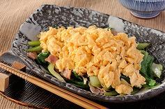 s-チンゲン菜の炒り卵添え